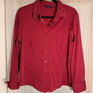 Reitmans Red Button Down Dress Blouse - Size XL